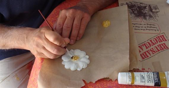 round rosette woodworking applique onlay