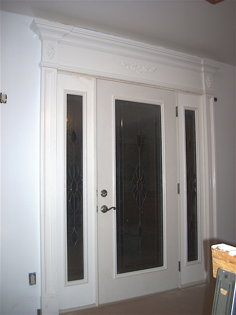 Al k front door surround california the joy of moldings for How to install exterior door trim