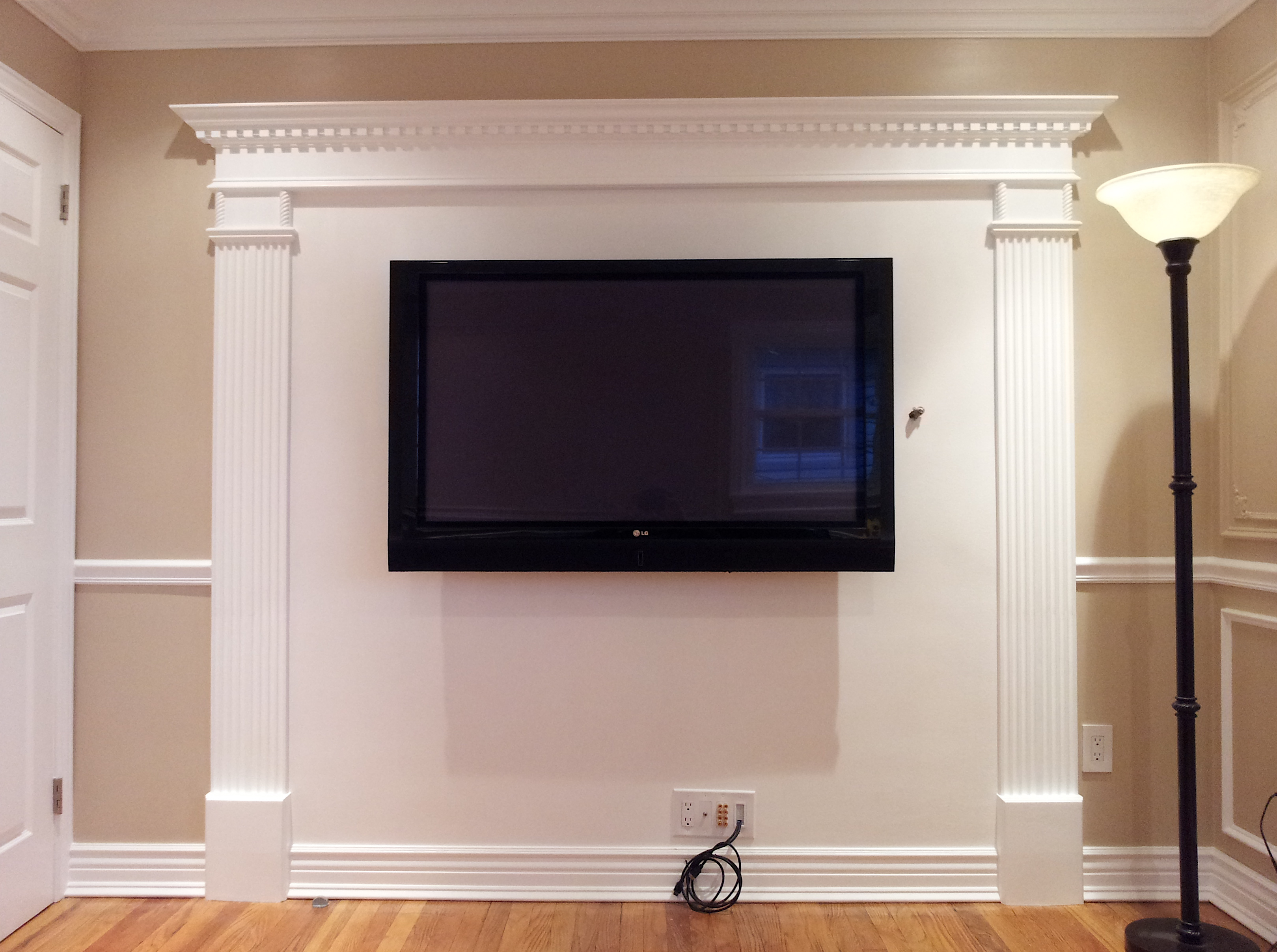 fireplace overmantel moldings for flat screen tv the joy of
