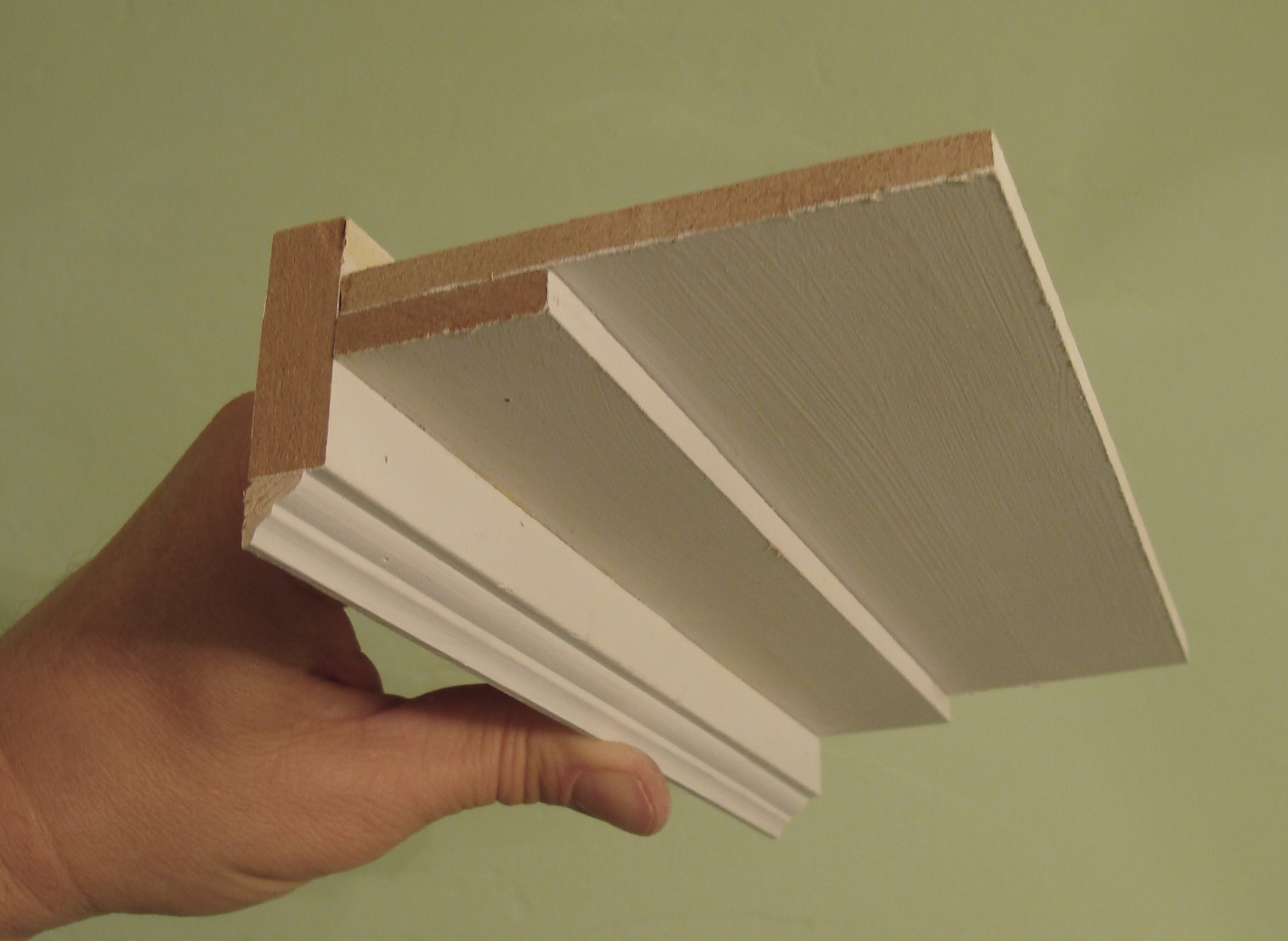the crown molding model i made based on design elements from our new light fixture