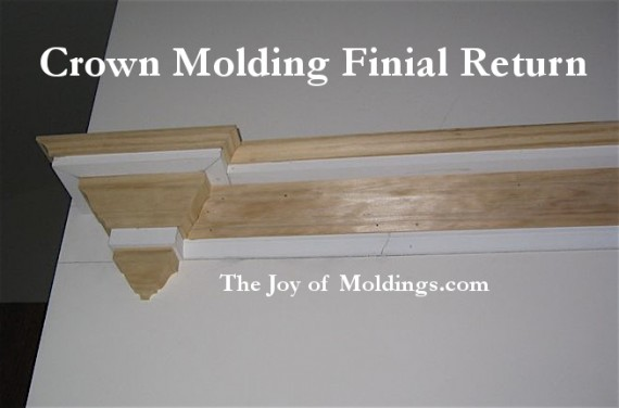 crown molding finial return