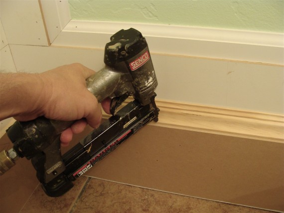 how to install baseboard trim molding