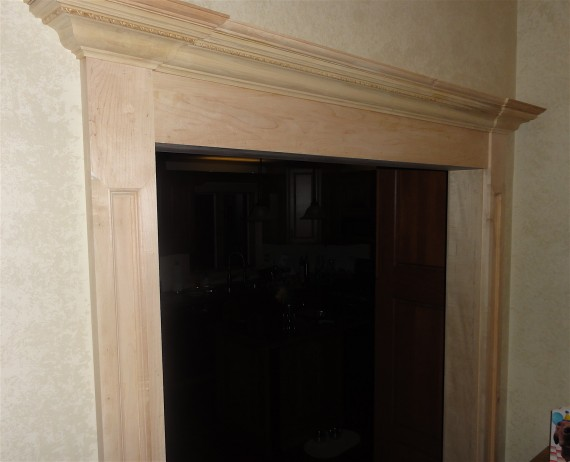 crown molding over door