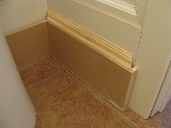 how to terminate a baseboard molding