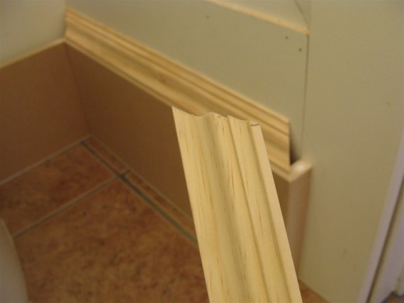 how to cut baseboard molding