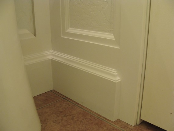 how to paint large baseboard moldings