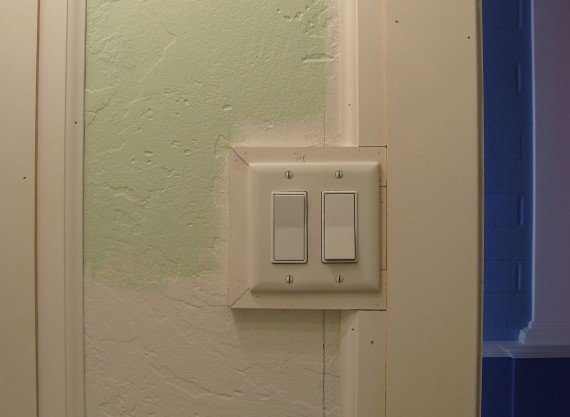 door trim next to light switch