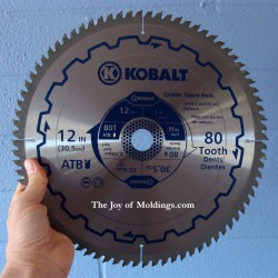 Miter saw blade for cutting moldings the joy of moldings 12 80 tooth miter saw blade greentooth Gallery