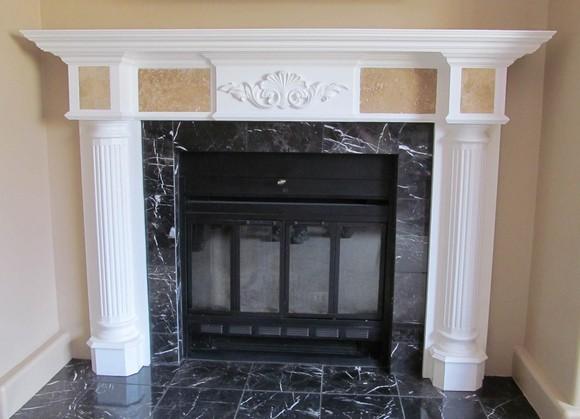 fireplace mantel diy
