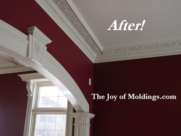 Before Amp After Soffit Crown Molding And Archway The Joy