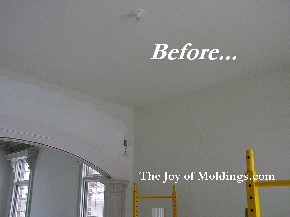 crown molding before & after