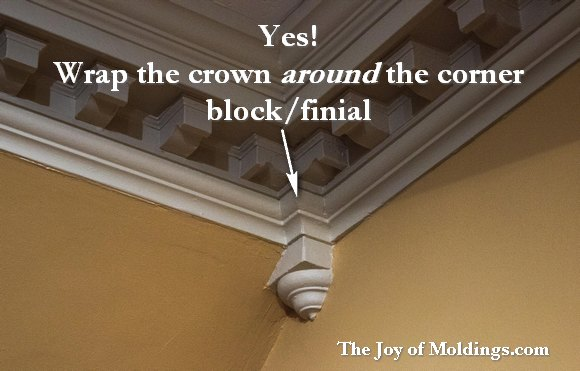 crown molding corner block