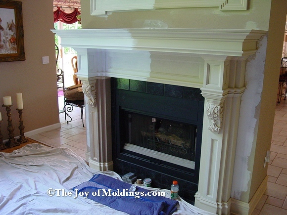 primed mdf fireplace mantel