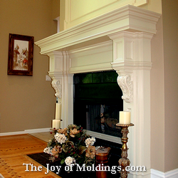fireplace mantel-103