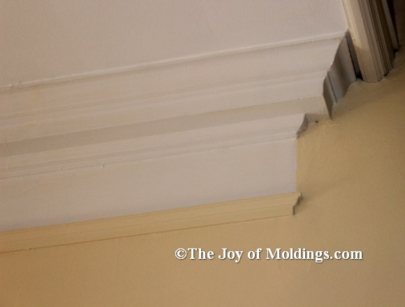 Crown Molding Hanging Return In Historic Home