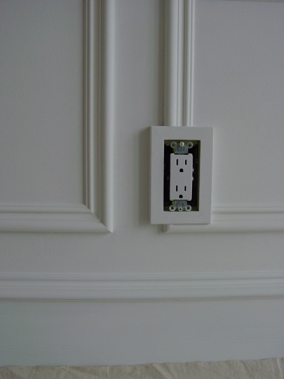 Wall Frame Moldings and Electrical Outlets - The Joy of Moldings.com