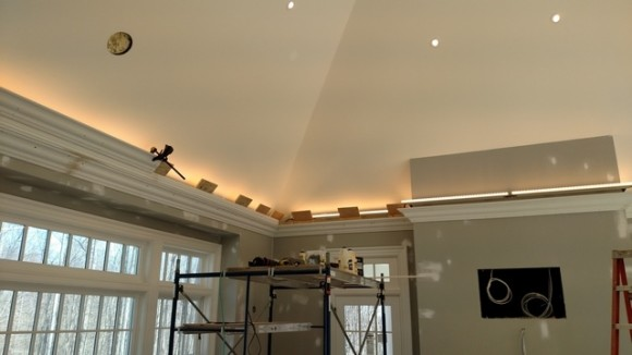 Led Lights Vaulted Ceiling : Flying crown molding for vaulted ceilings joy studio