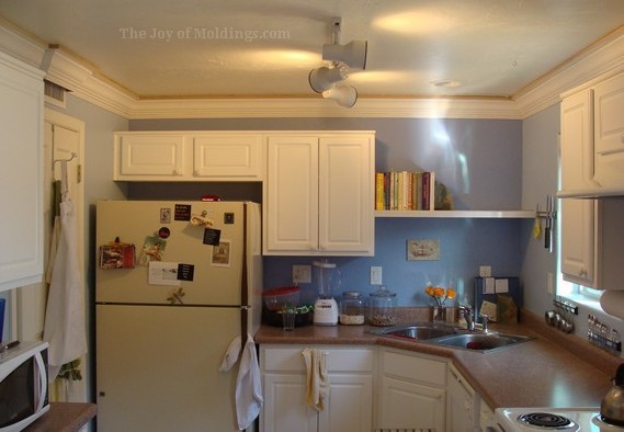 how to install crown molding on kitchen cabinets kitchen crown molding installation the last goes in 17038