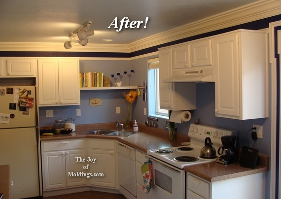 how to install crown molding on kitchen cabinets our kitchen moldings the of moldings 17038