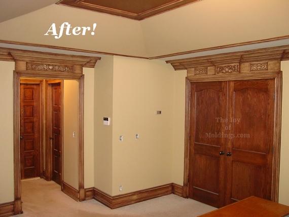 Tray Ceiling Door Trim Entablature Walk In Closets Baseboard Crown