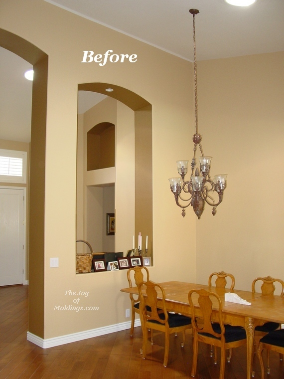 Before And After Crown Molding On Vaulted Ceiling