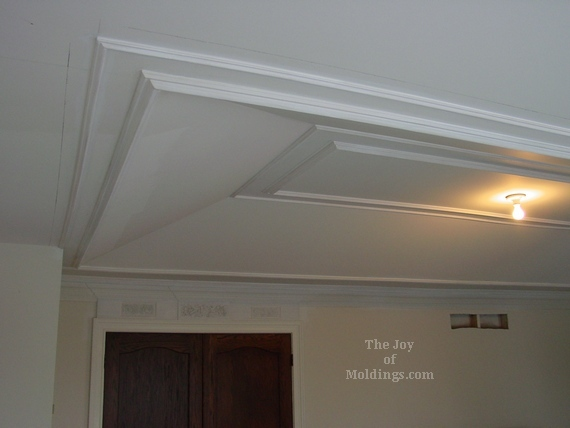 tray ceiling trim ideas - How to Install Molding Trim on Tray Ceiling The Joy of