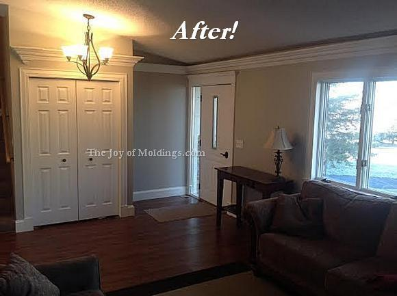 molding living room before amp after aaron s livingroom molding makeover the 10890